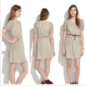 Madewell Diamond Duo Silk Dress Size 0